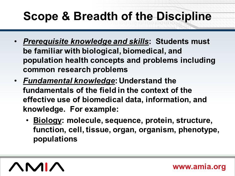 Scope & Breadth of the Discipline