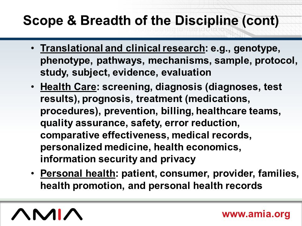 Scope & Breadth of the Discipline (cont)