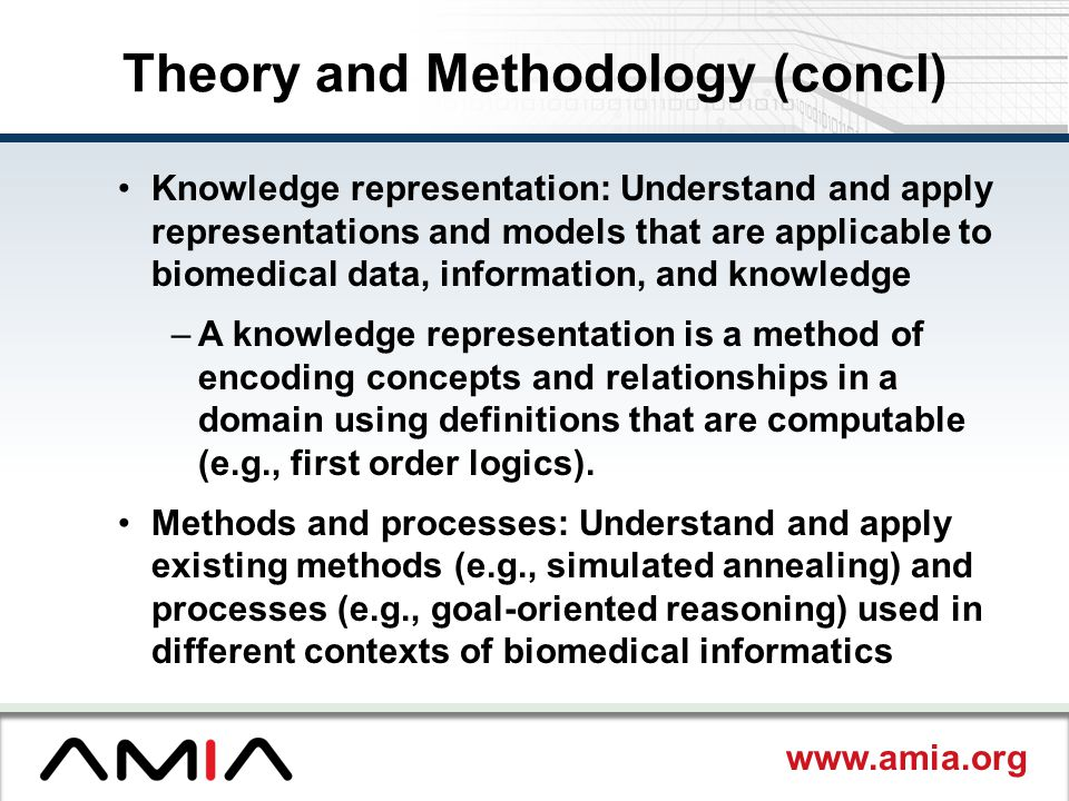 Theory and Methodology (concl)