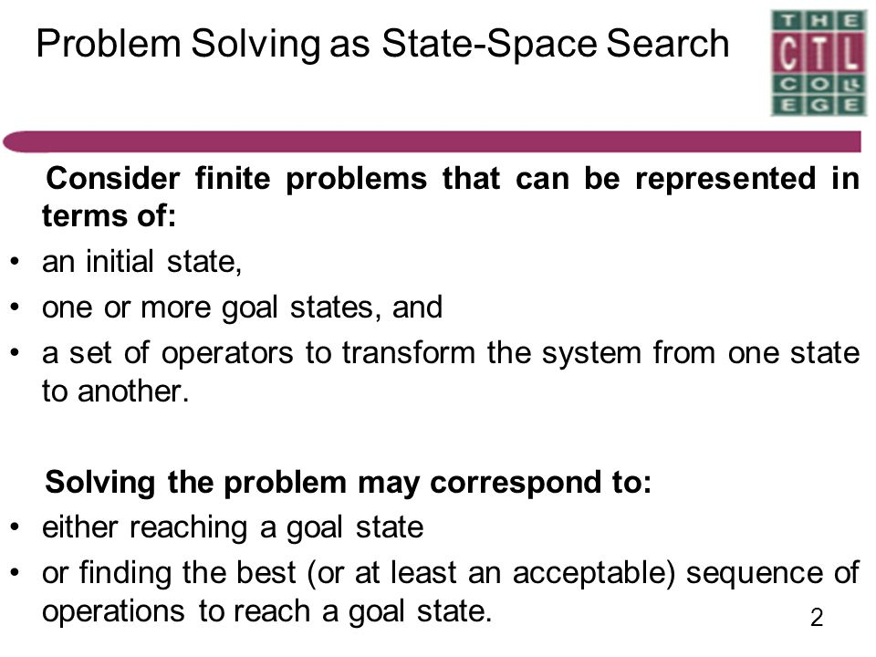 Problem Solving as State-Space Search