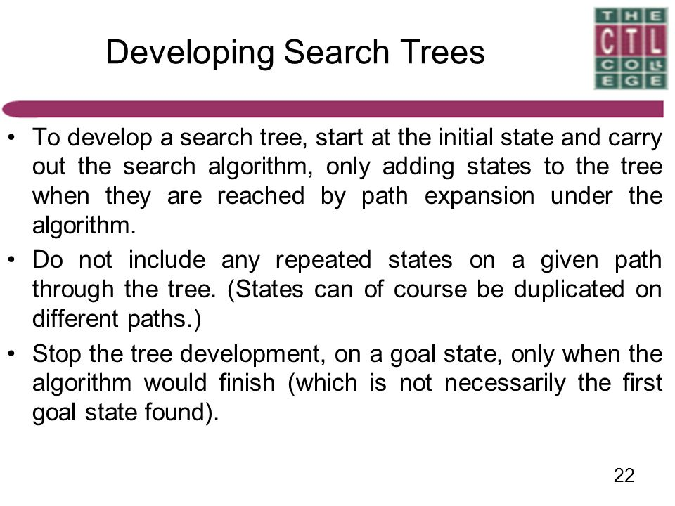 Developing Search Trees