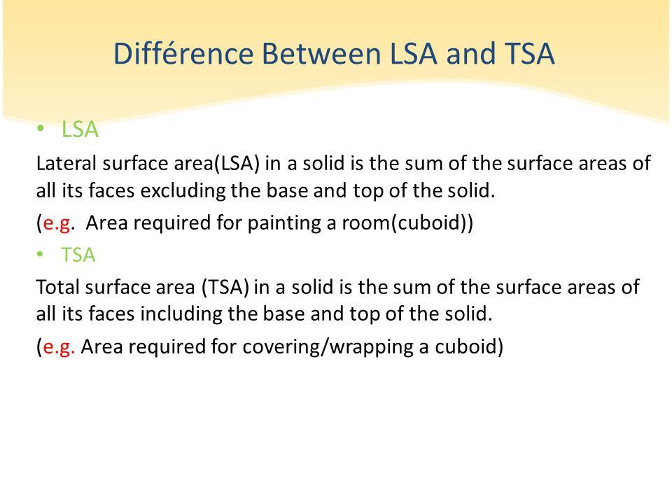 Différence Between LSA and TSA