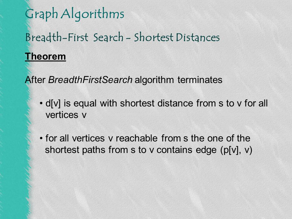 Breadth-First Search - Shortest Distances