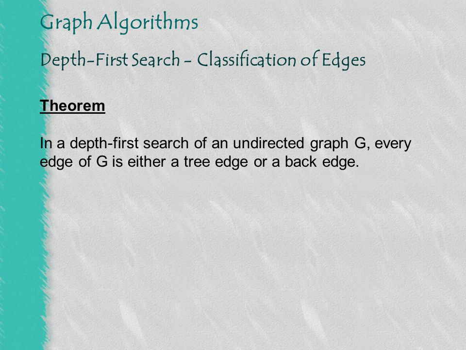 Depth-First Search - Classification of Edges