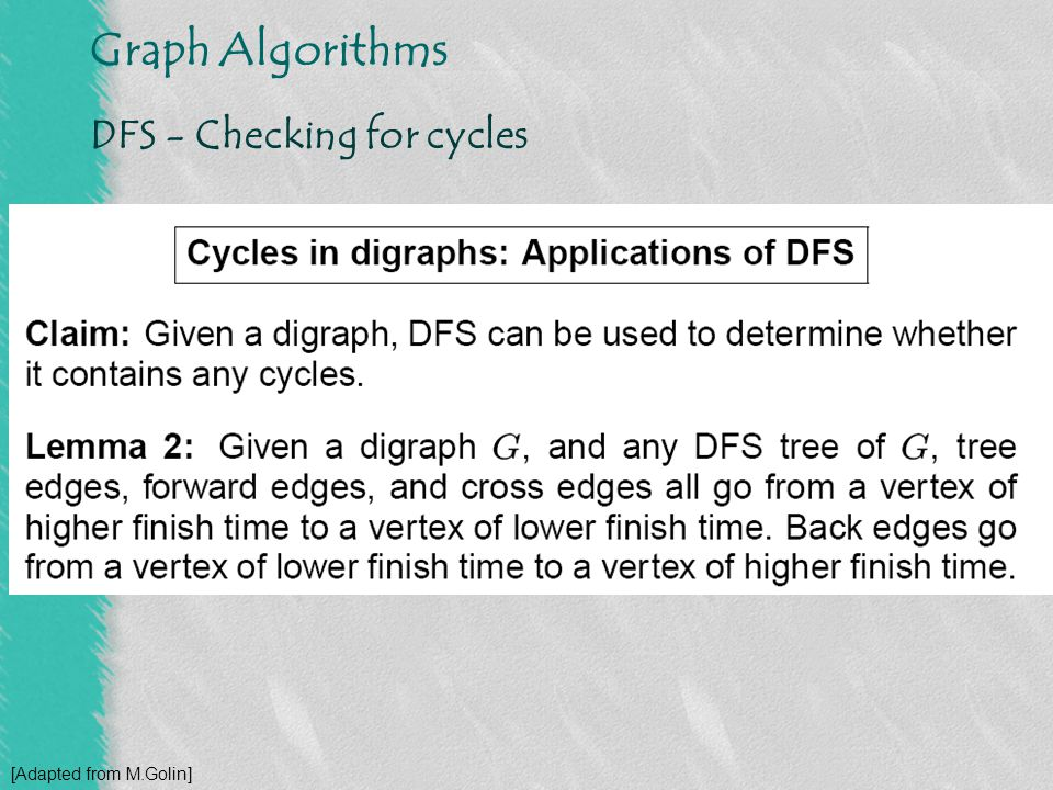DFS - Checking for cycles