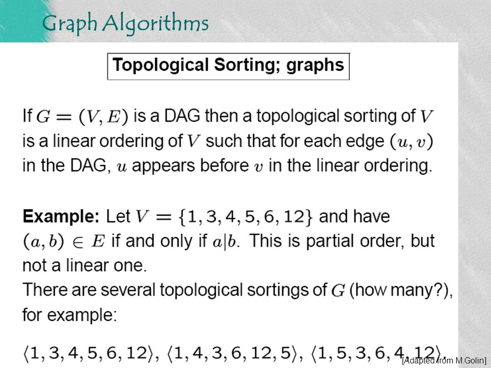 DFS - Topological Sorting
