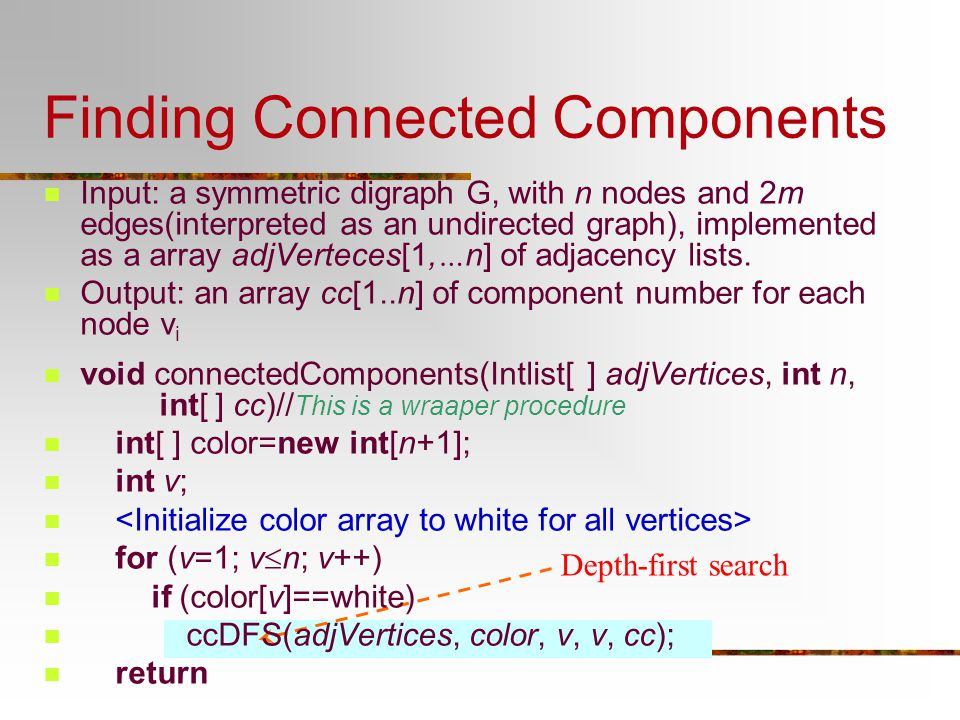 Finding Connected Components