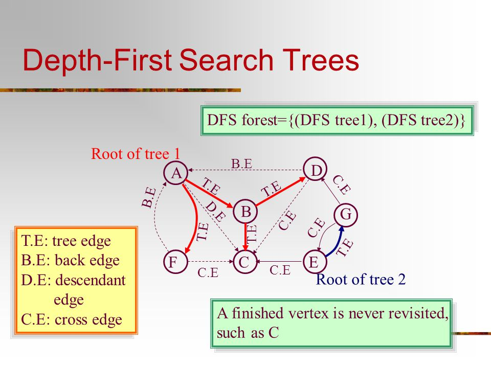Depth-First Search Trees