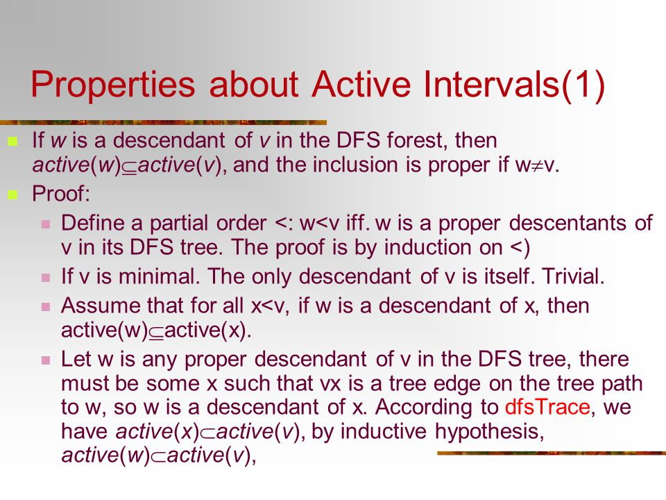 Properties about Active Intervals(1)