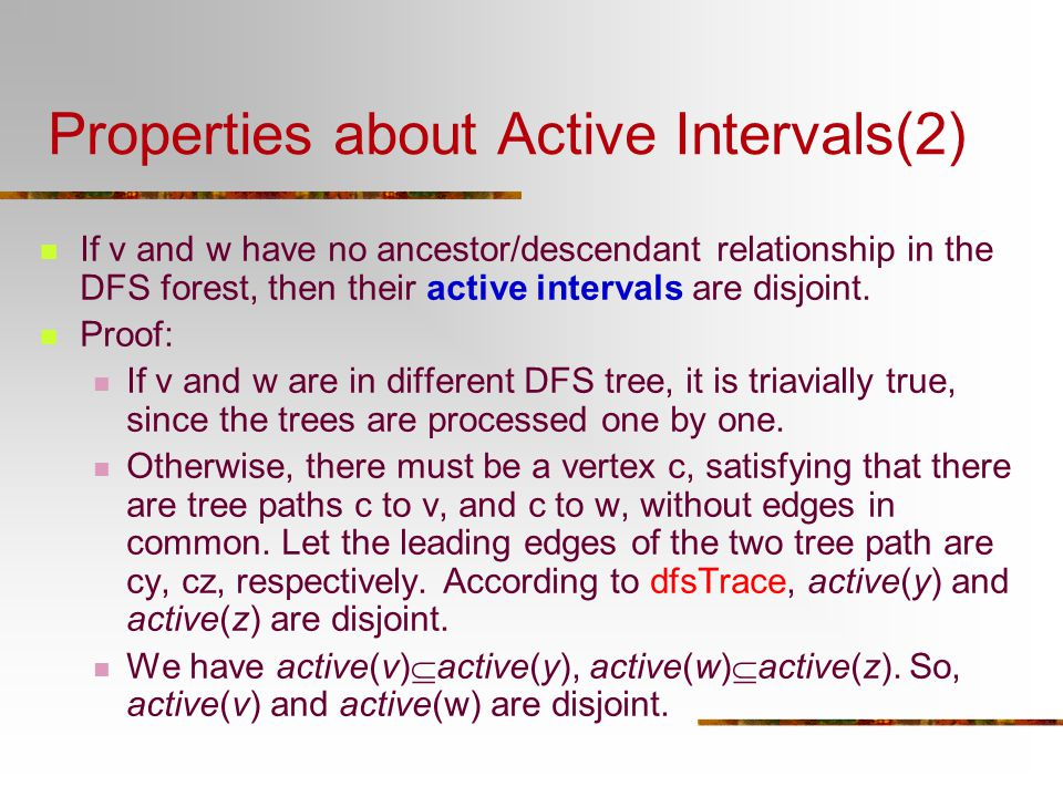 Properties about Active Intervals(2)