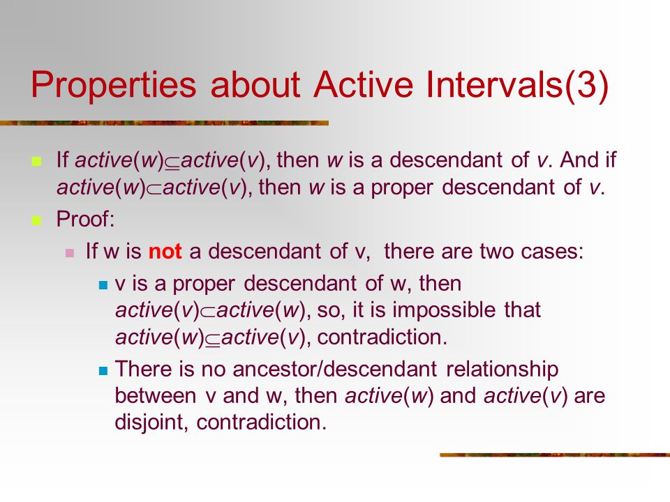 Properties about Active Intervals(3)