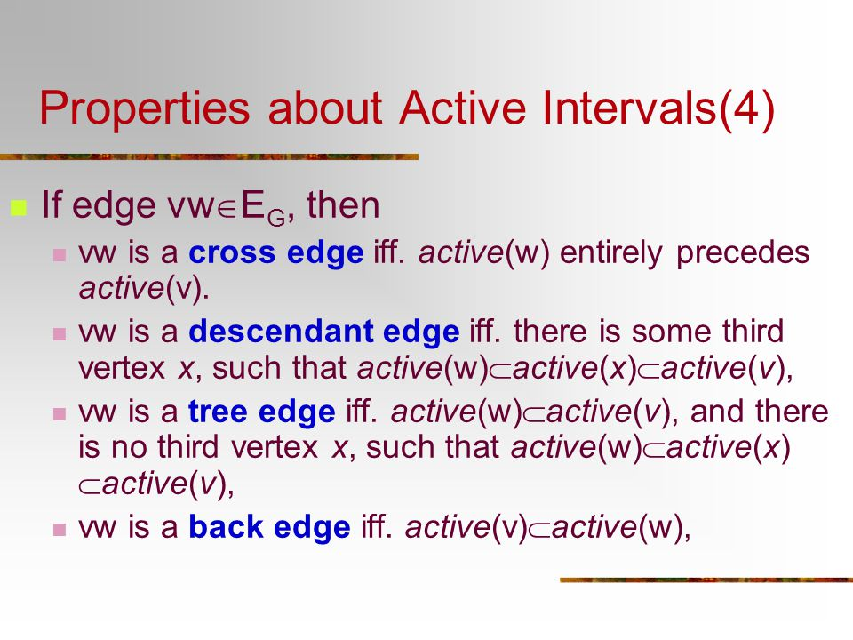 Properties about Active Intervals(4)