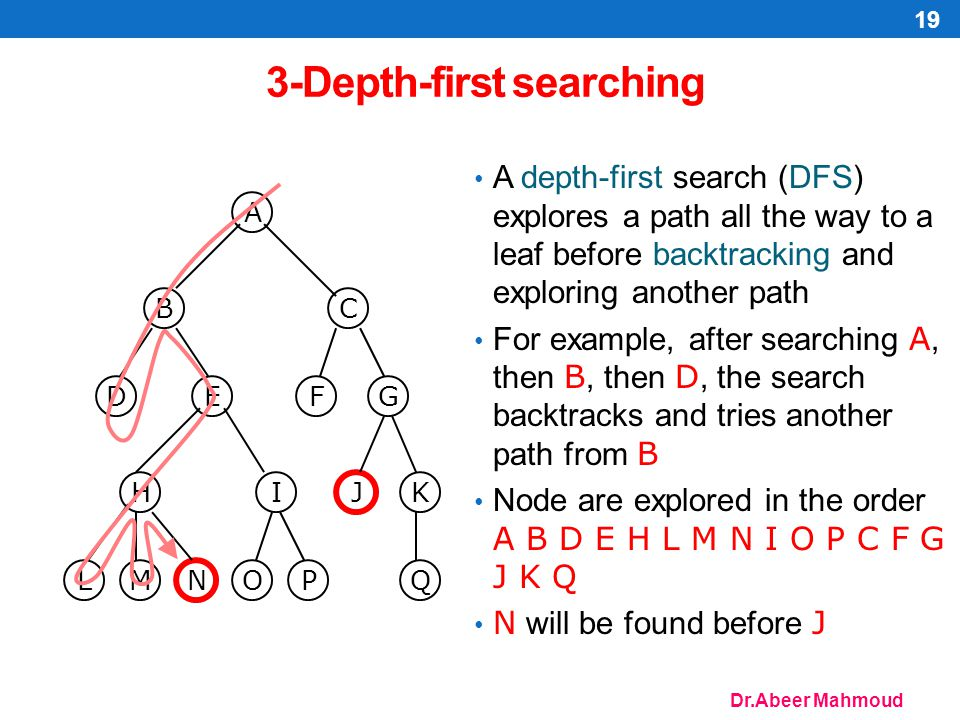 3-Depth-first searching