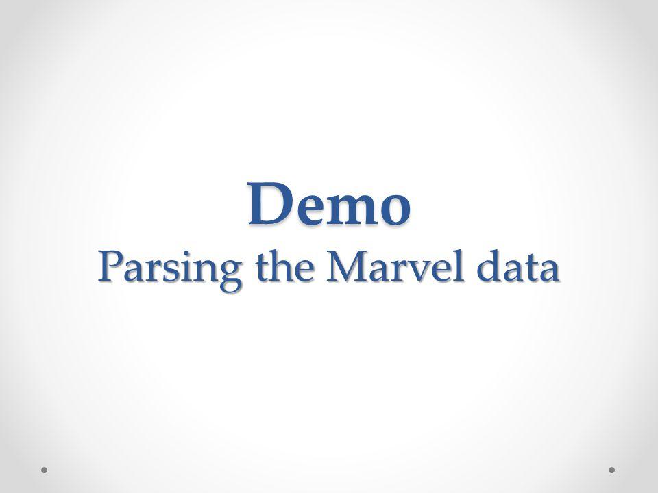 Parsing the Marvel data