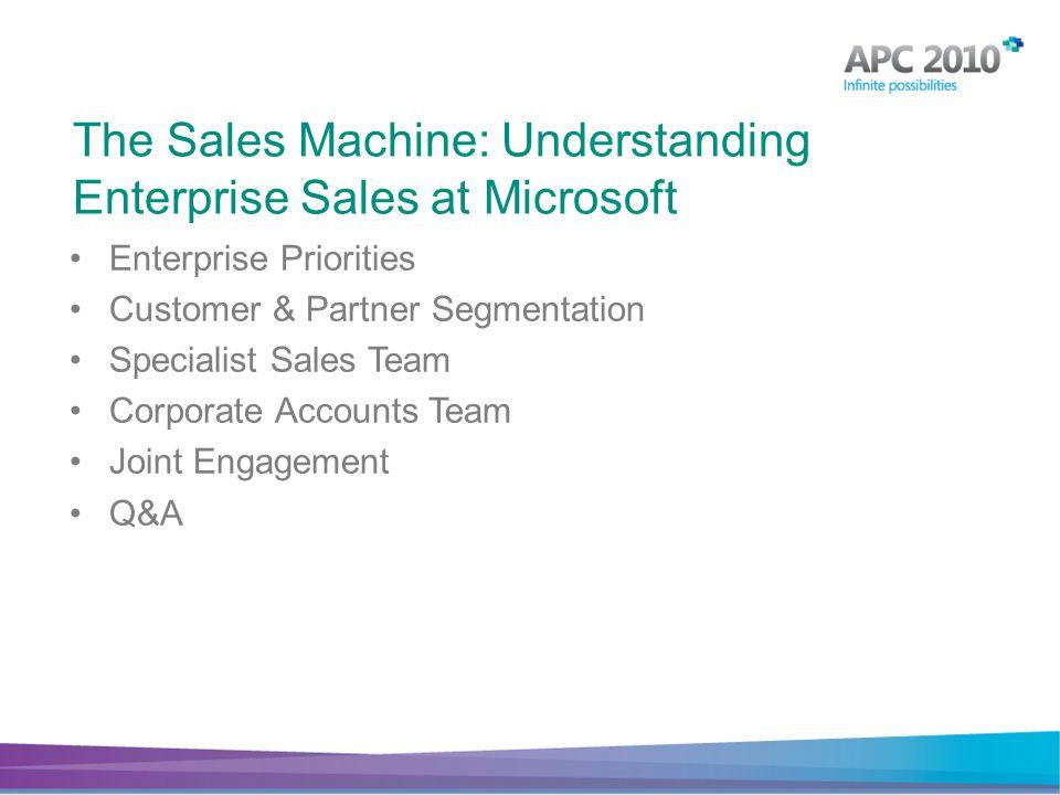 The Sales Machine: Understanding Enterprise Sales at Microsoft