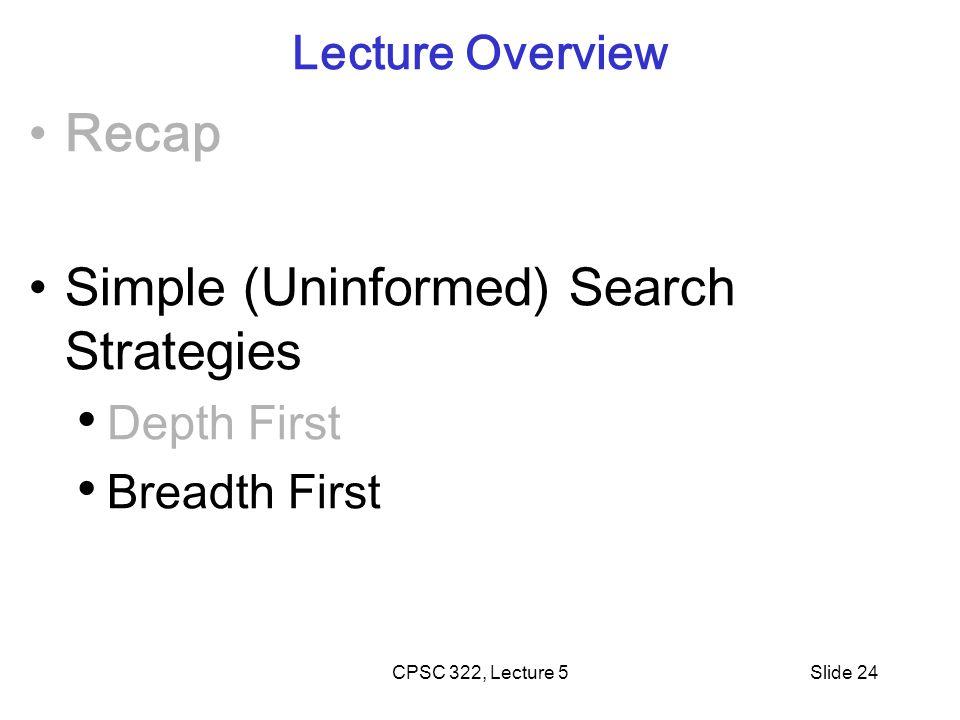 Simple (Uninformed) Search Strategies