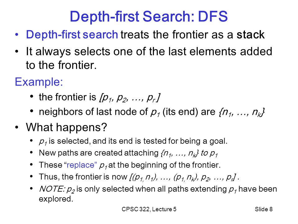 Depth-first Search: DFS