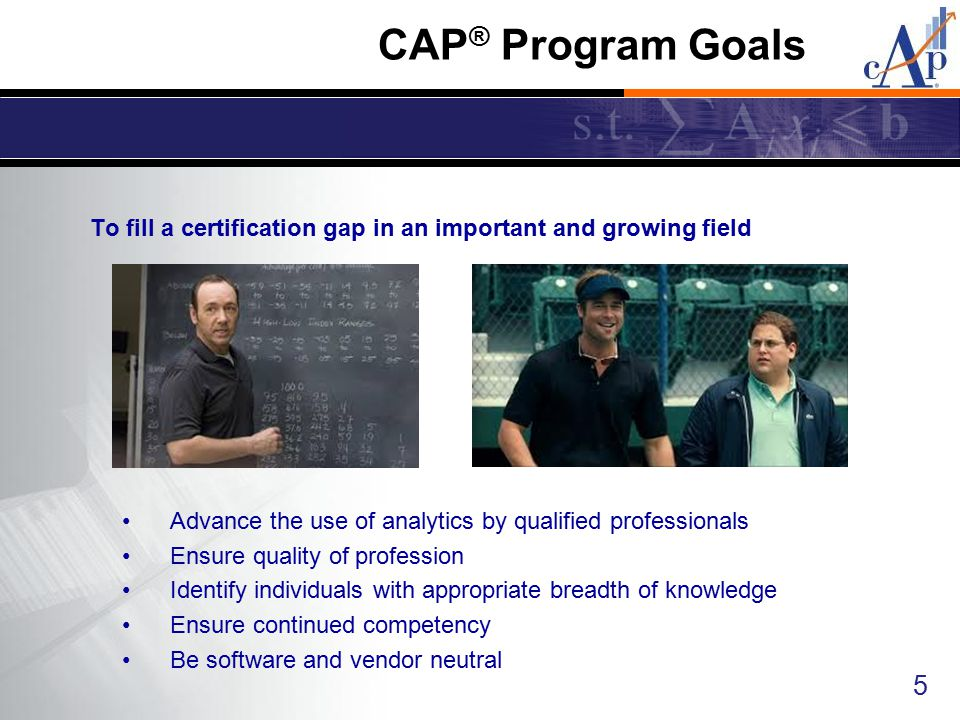 To fill a certification gap in an important and growing field