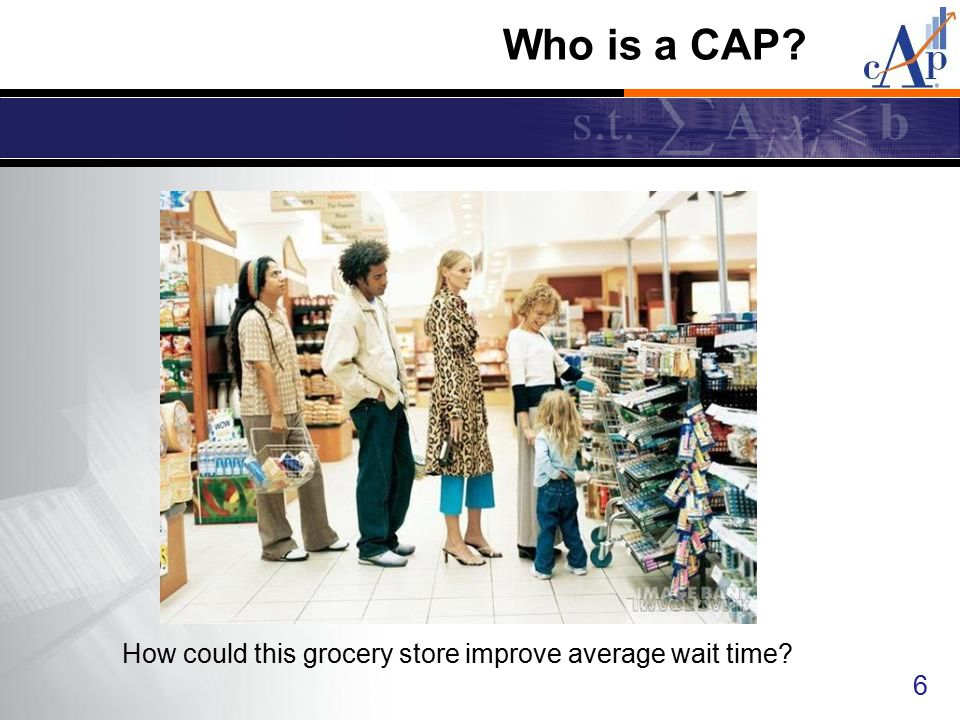 How could this grocery store improve average wait time