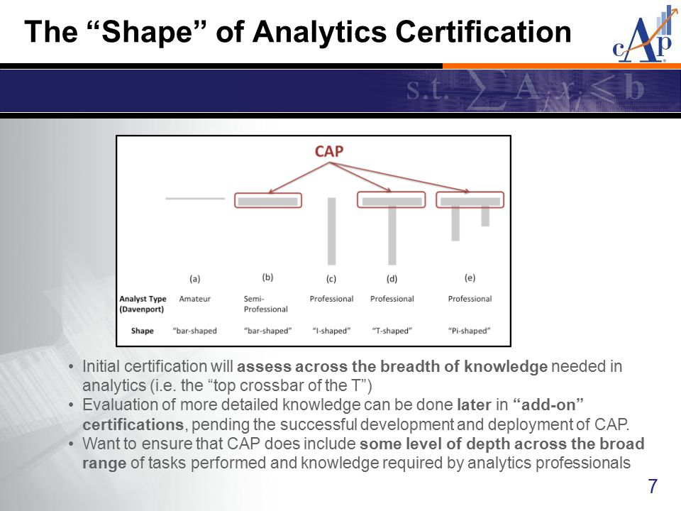 The Shape of Analytics Certification
