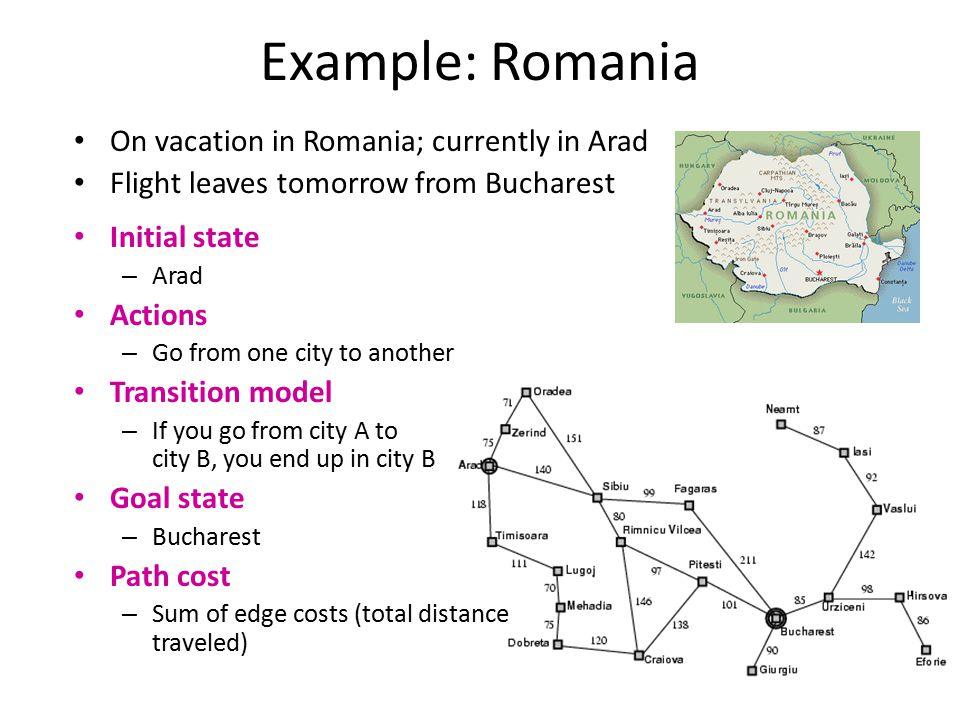 Example: Romania On vacation in Romania; currently in Arad