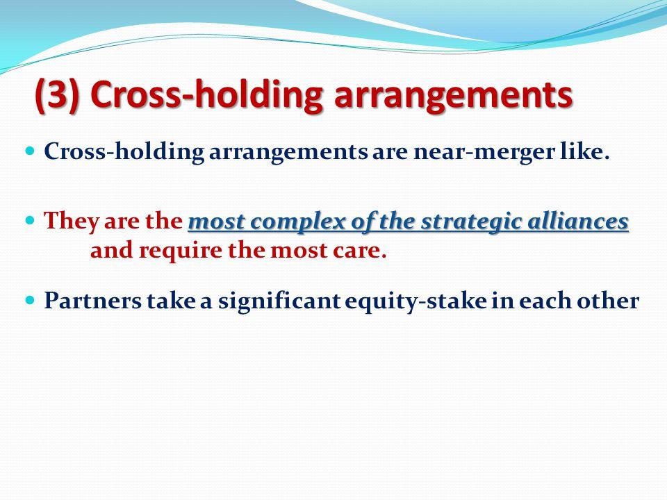 (3) Cross-holding arrangements