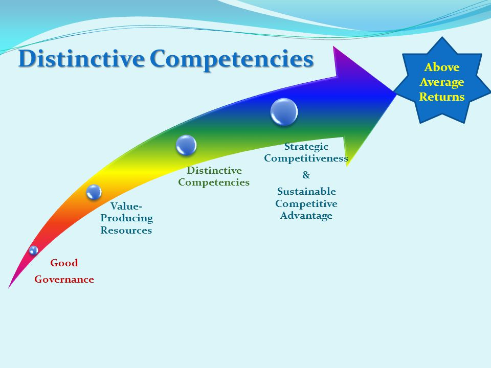 Distinctive Competencies