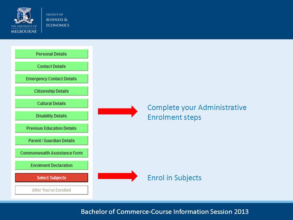 Complete your Administrative Enrolment steps