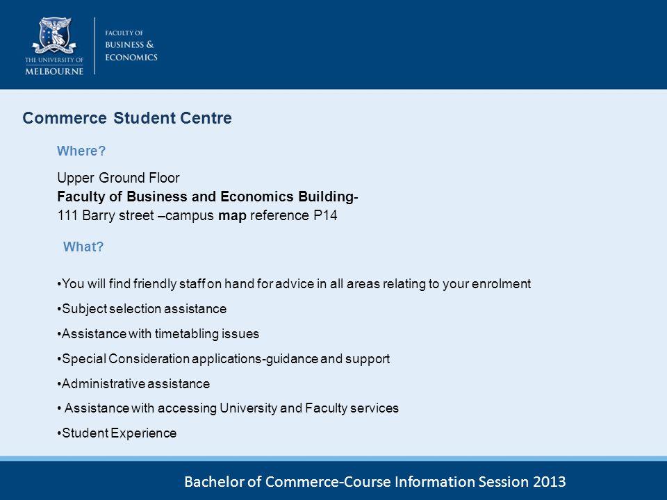 Commerce Student Centre