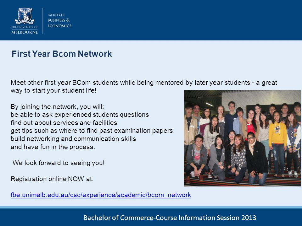 First Year Bcom Network