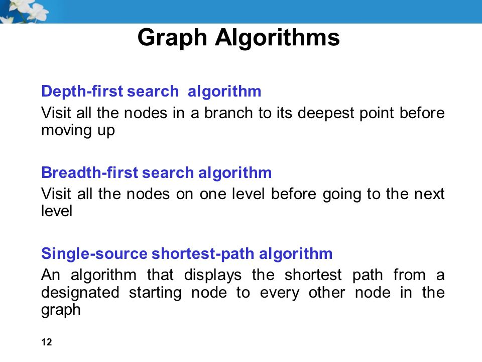 Graph Algorithms Depth-first search algorithm