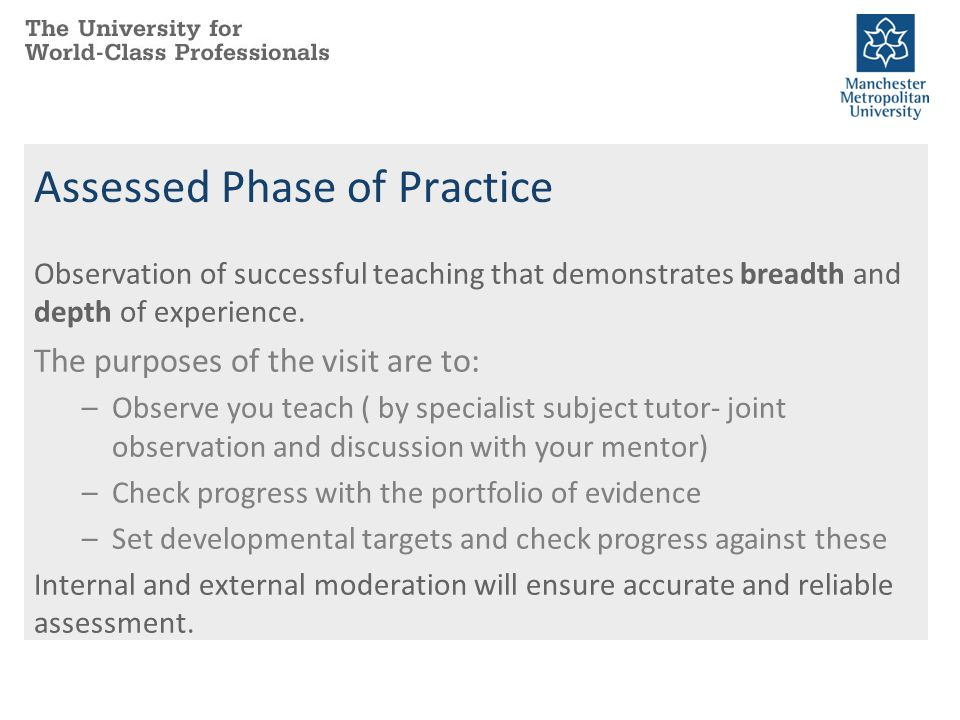 Assessed Phase of Practice