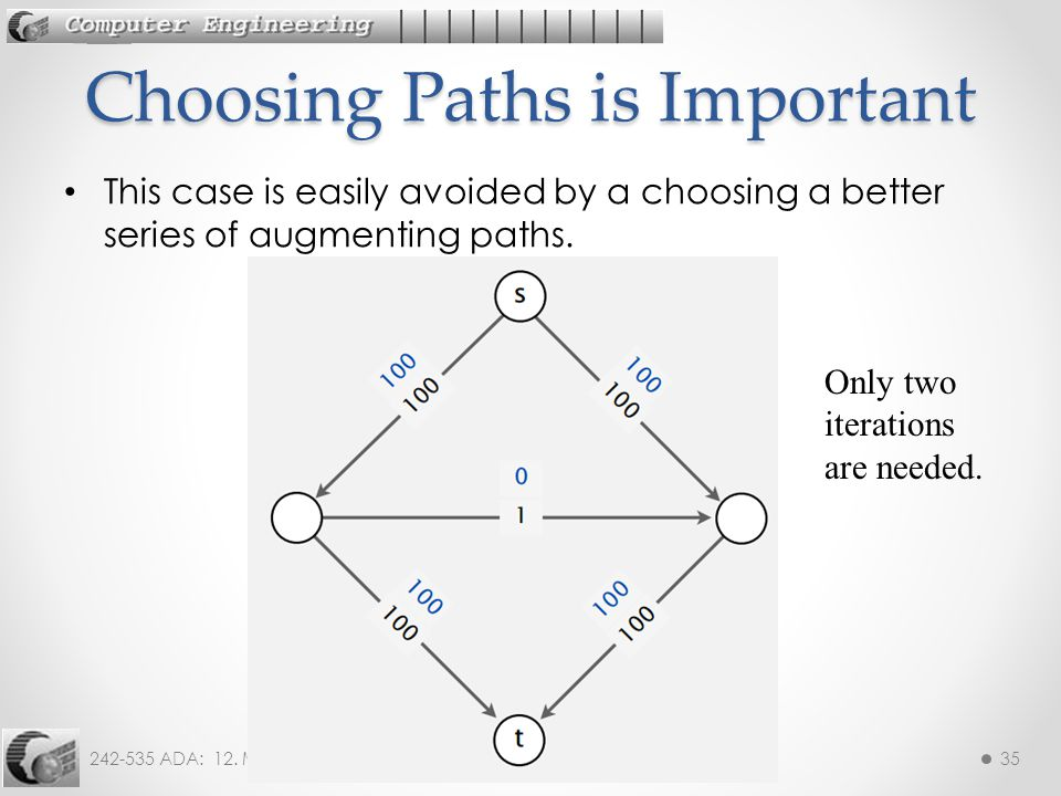 Choosing Paths is Important