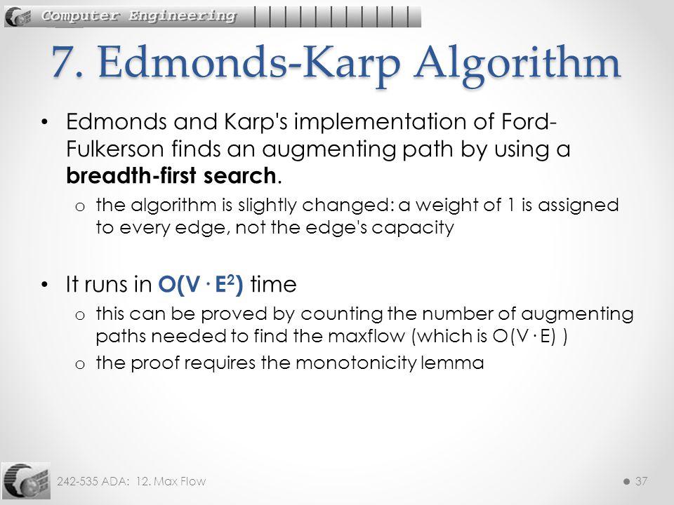 7. Edmonds-Karp Algorithm