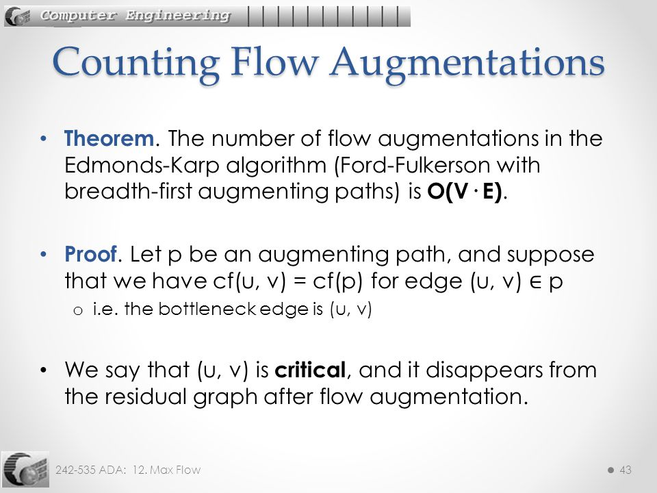 Counting Flow Augmentations