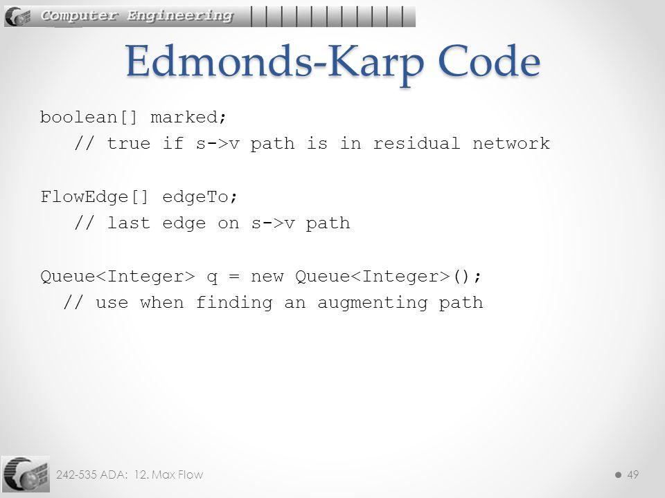 Edmonds-Karp Code