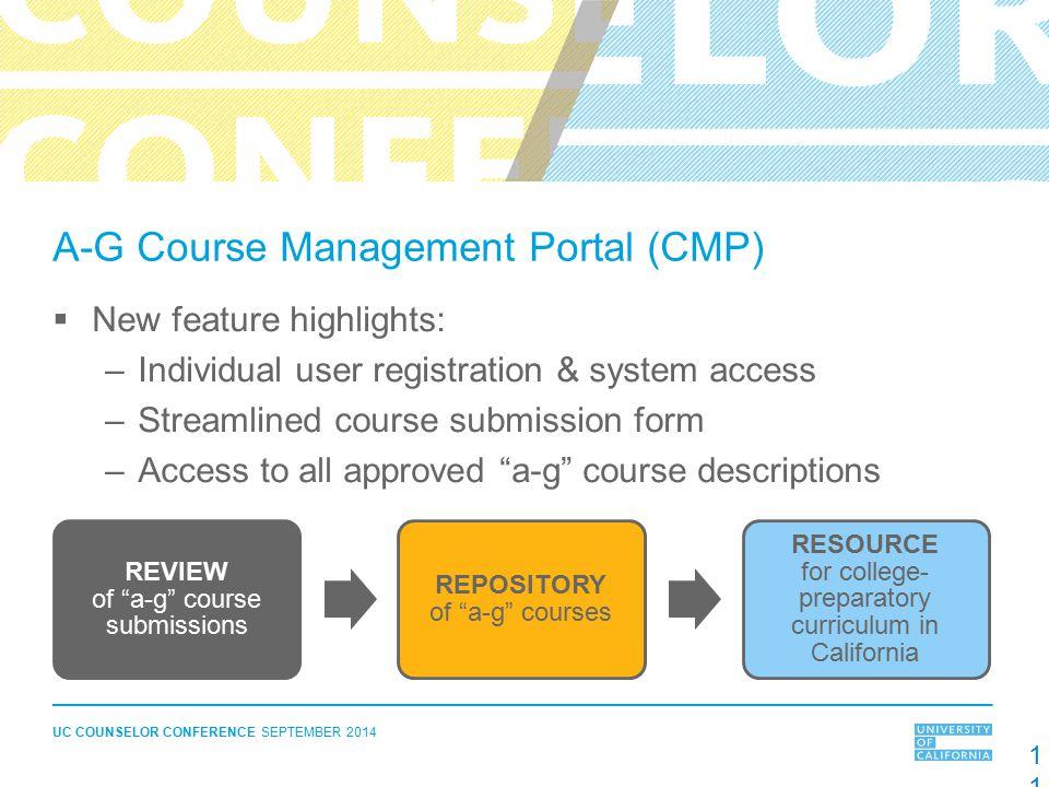 A-G Course Management Portal (CMP)