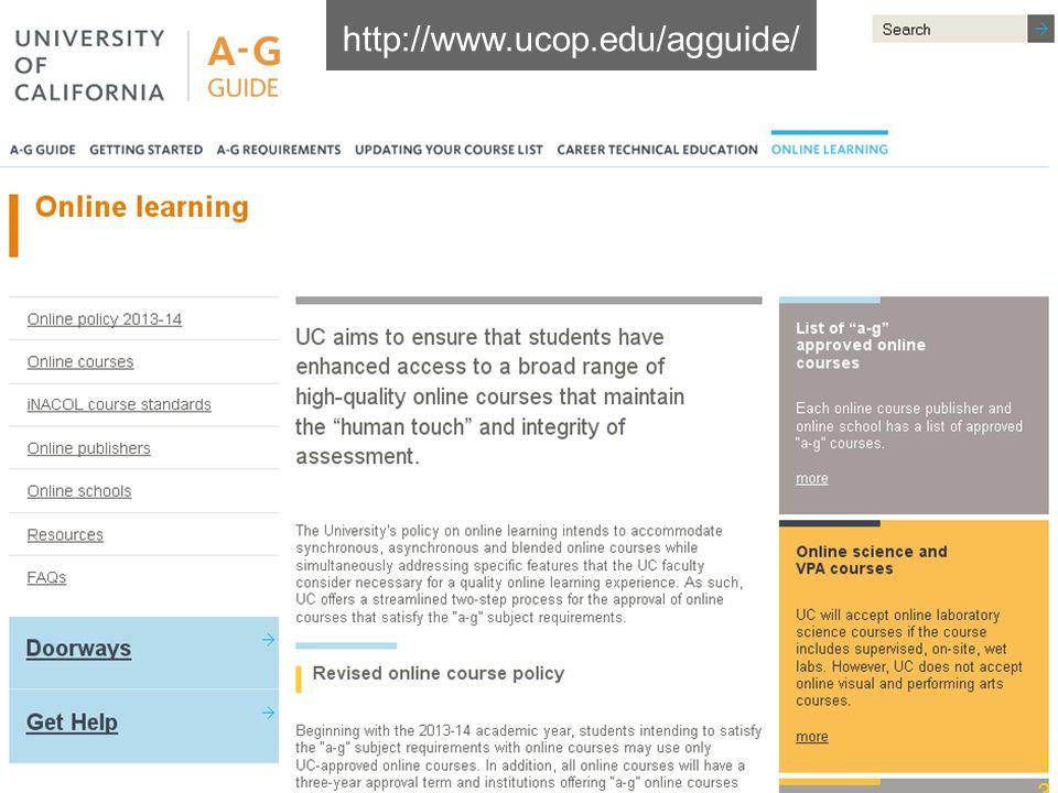 http://www.ucop.edu/agguide/
