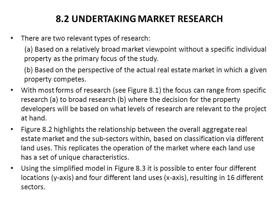 8.2 UNDERTAKING MARKET RESEARCH