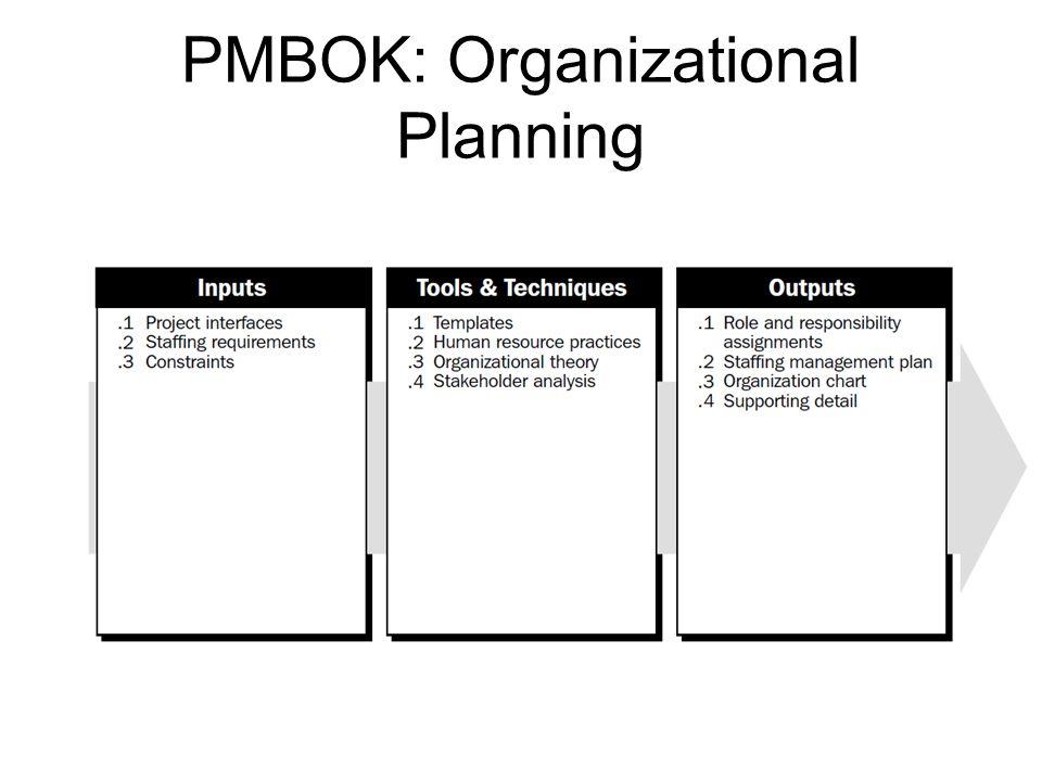 PMBOK: Organizational Planning