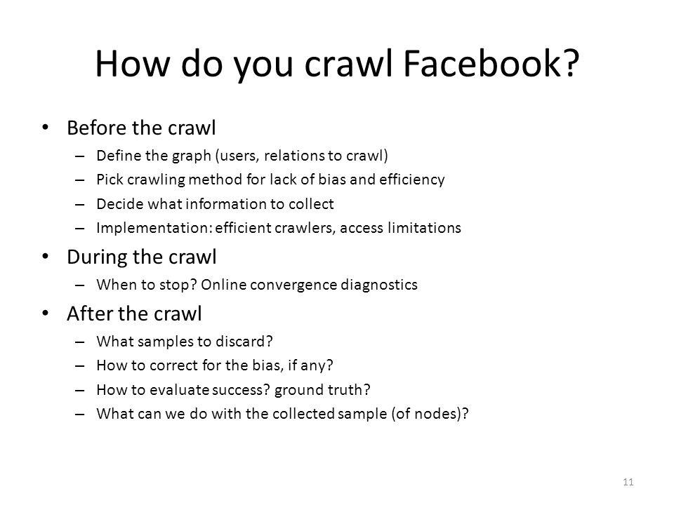 How do you crawl Facebook