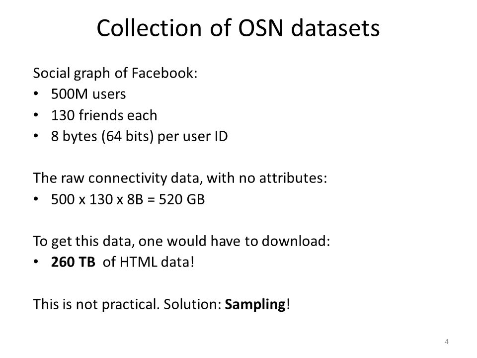 Collection of OSN datasets