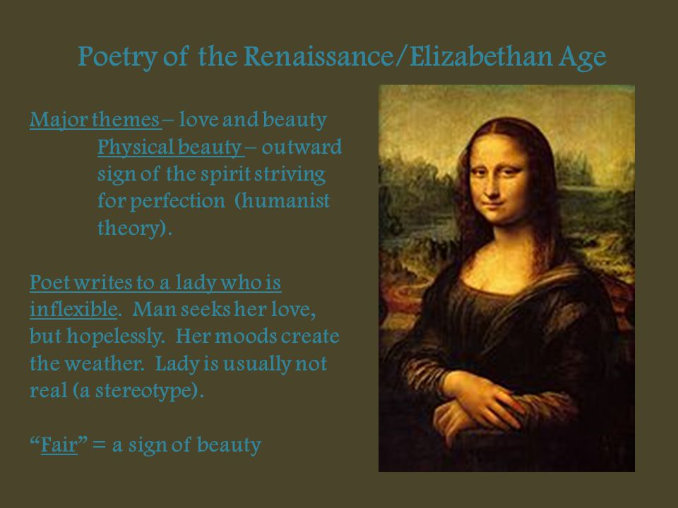 Poetry of the Renaissance/Elizabethan Age