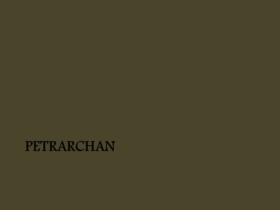 PETRARCHAN
