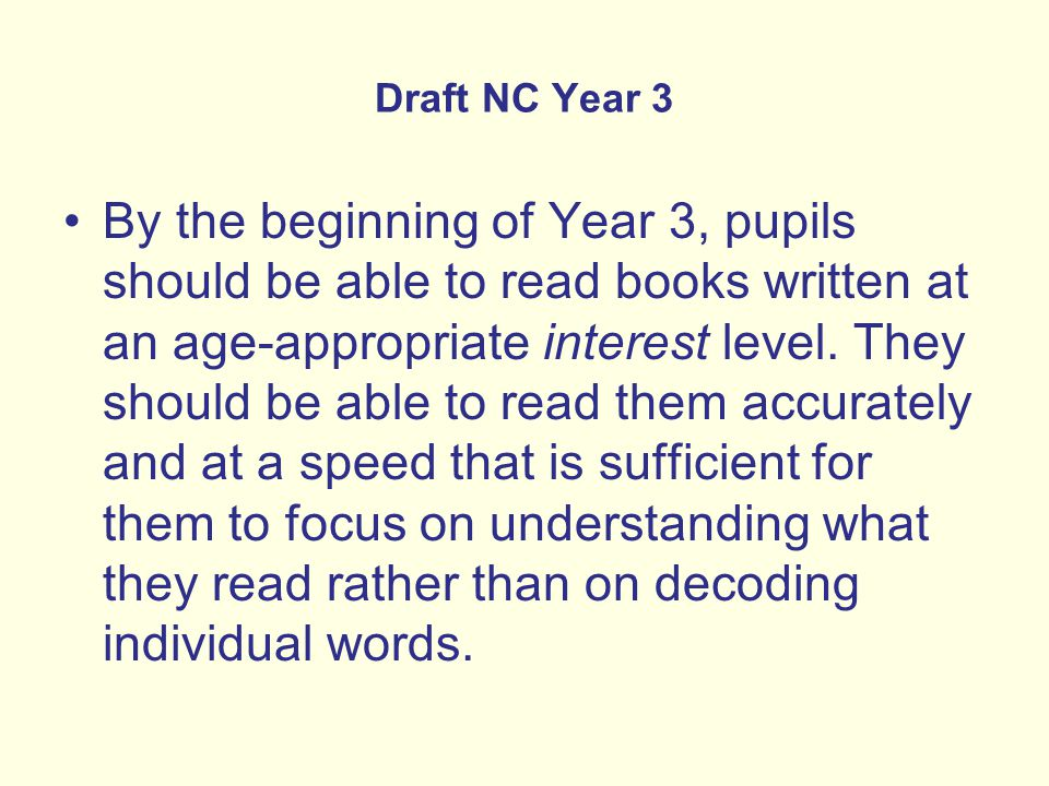 Draft NC Year 3