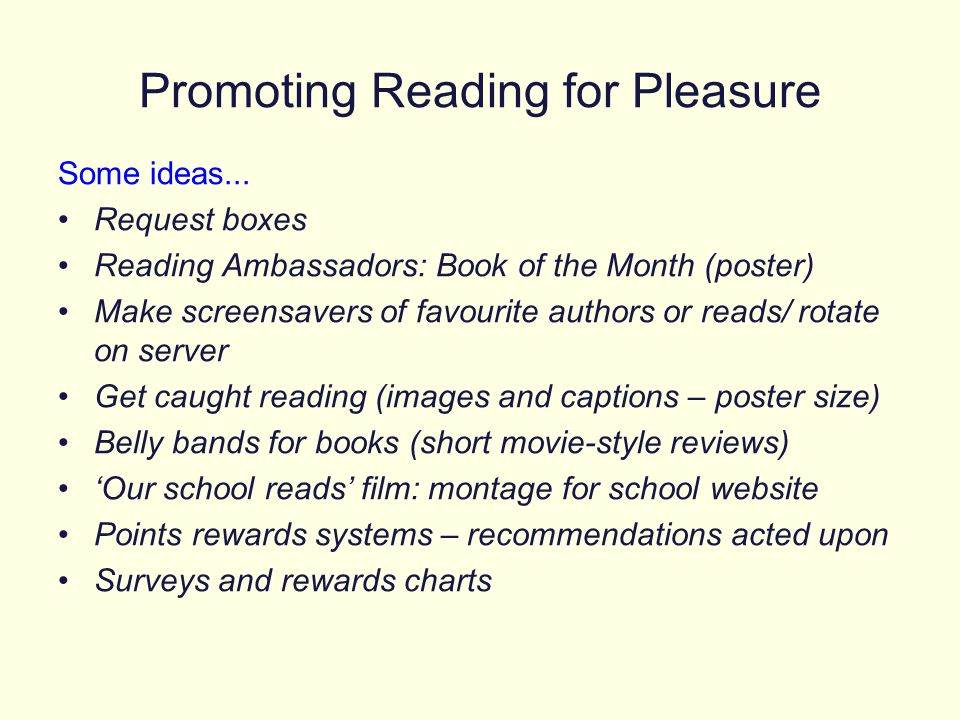 Promoting Reading for Pleasure