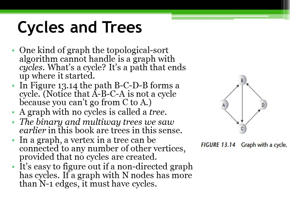 Cycles and Trees