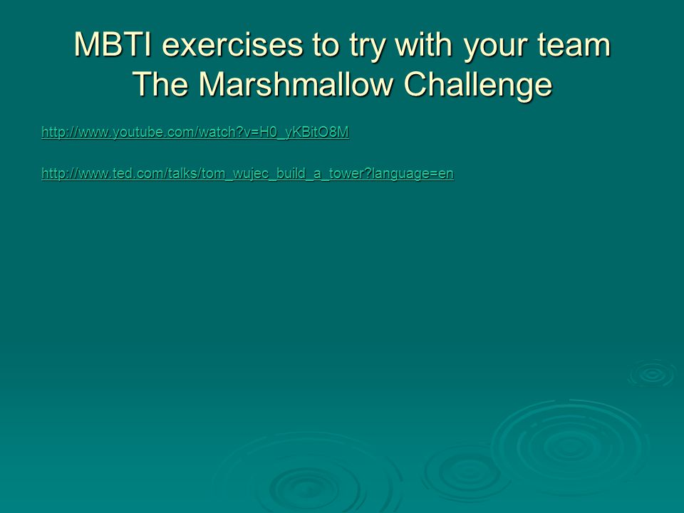 MBTI exercises to try with your team The Marshmallow Challenge