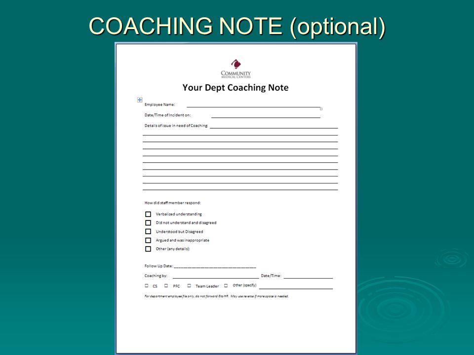 COACHING NOTE (optional)