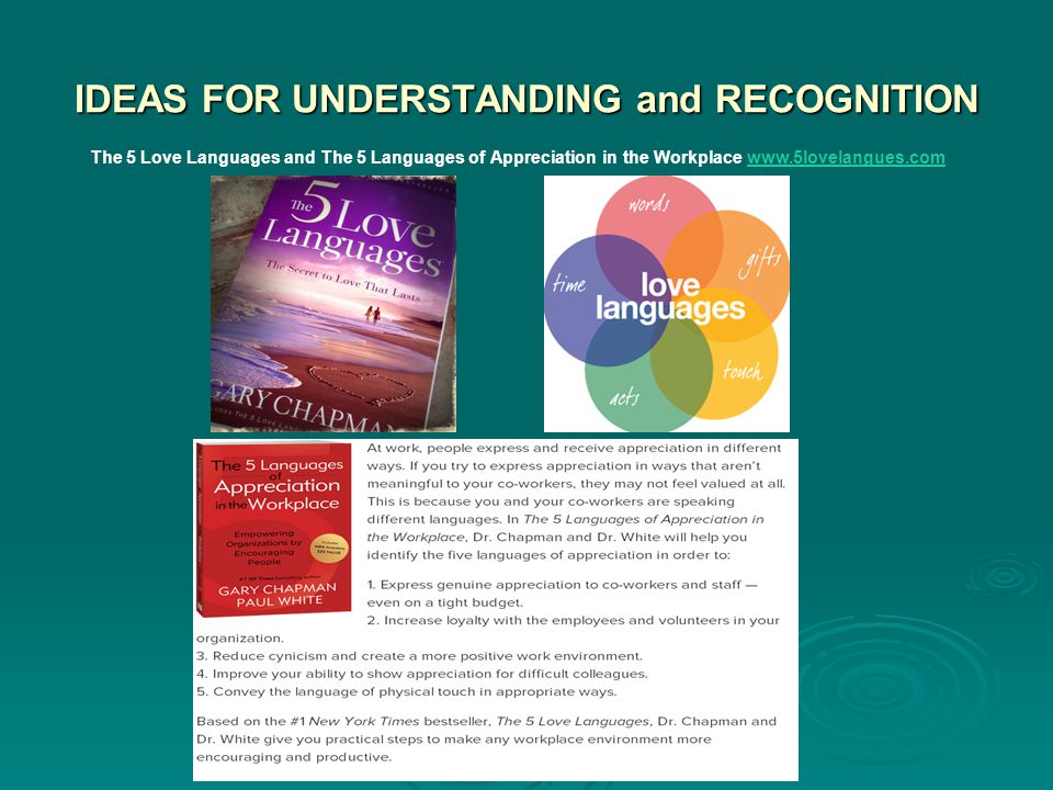 IDEAS FOR UNDERSTANDING and RECOGNITION